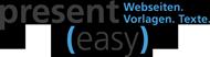 present(easy) - Webseiten. Vorlagen. Texte.